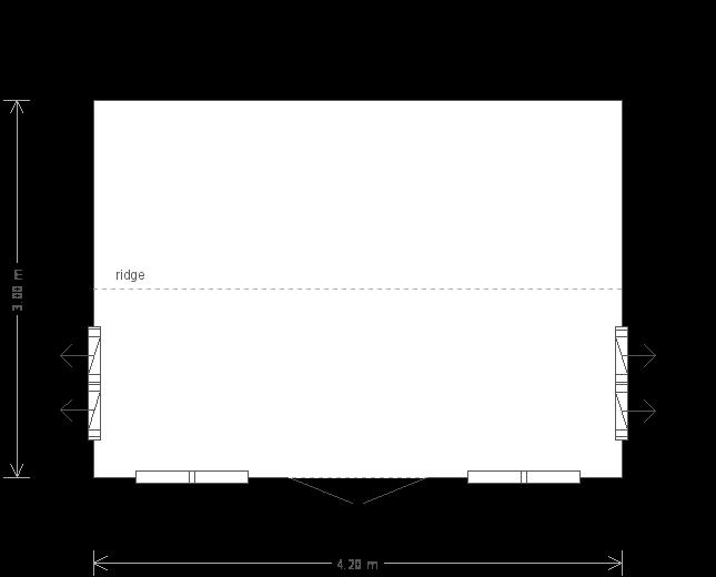 Holkham Summerhouse: Floorplan
