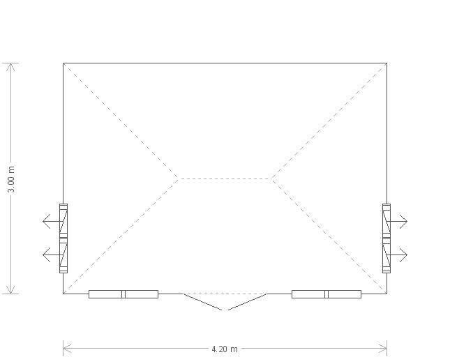 Cley Summerhouse: Floorplan