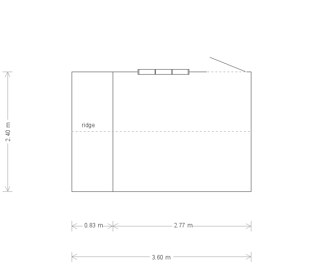 Blickling National Trust Shed: Floorplan