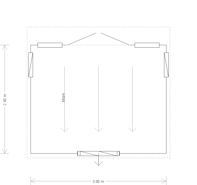 Salthouse Studio: Floorplan