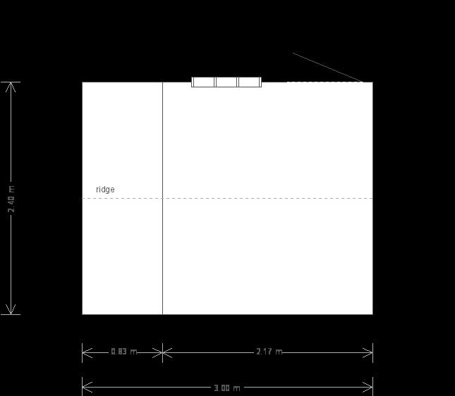 Blickling National Trust Shed: Floorplan