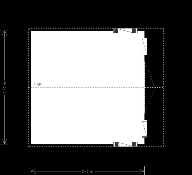 Ickworth National Trust Summerhouse: Floorplan