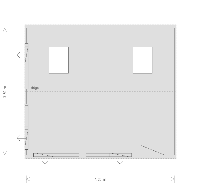 Langham Studio: Floorplan