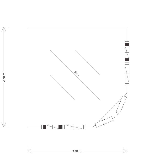 Orford National Trust Summerhouse: Floorplan