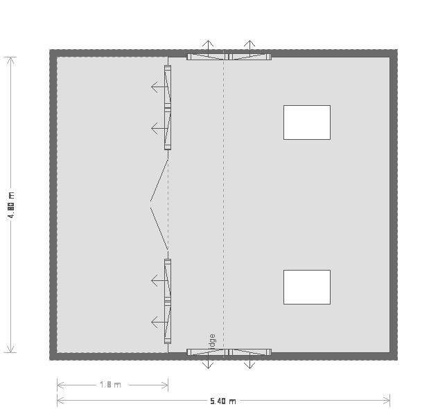 Garden Room With Veranda: Floorplan