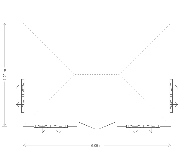 Garden Room: Floorplan