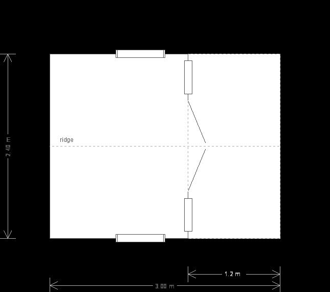 2.4 X 3 Morston Summerhouse With Apex Roof (10257) floorplan