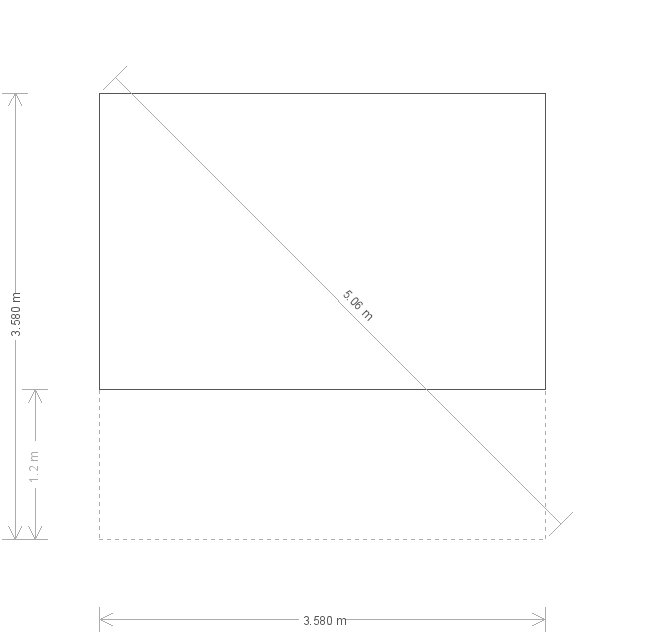12 x 12ft Morston Summerhouse with Cedar Shingles (11255) base plan