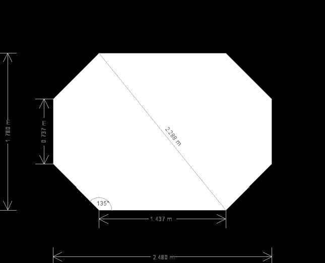 6 x 8'6ft Octagonal Summerhouse (15881) base plan