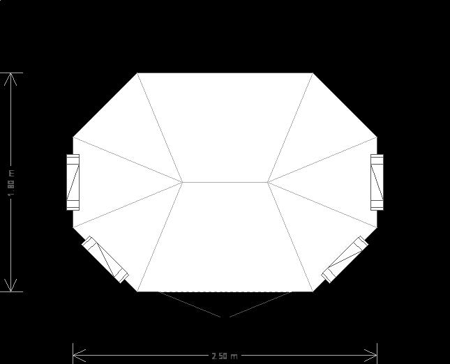 6 x 8'6ft Octagonal Summerhouse (15881) floorplan