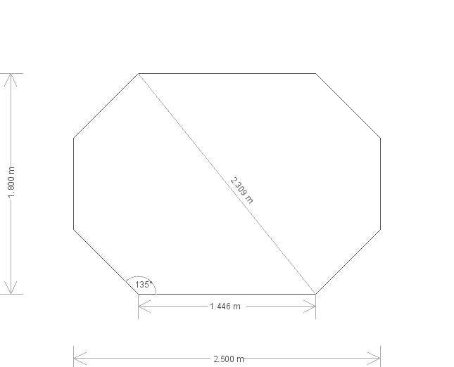 6 x 8 Wiveton Octagonal Summerhouse  (1641) base plan