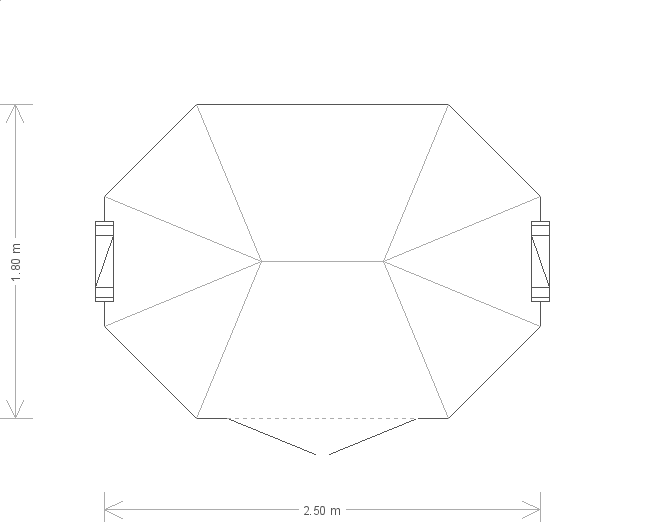 6 x 8 Wiveton Octagonal Summerhouse  (1641) floorplan