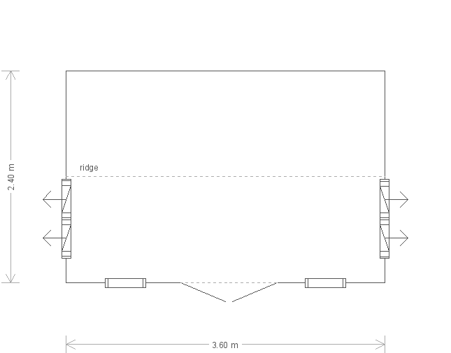 8 X 12 Holkham Summerhouse (17233) floorplan