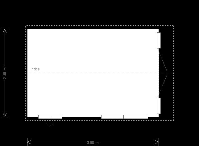 8 X 12 Blakeney Summerhouse (17401) floorplan