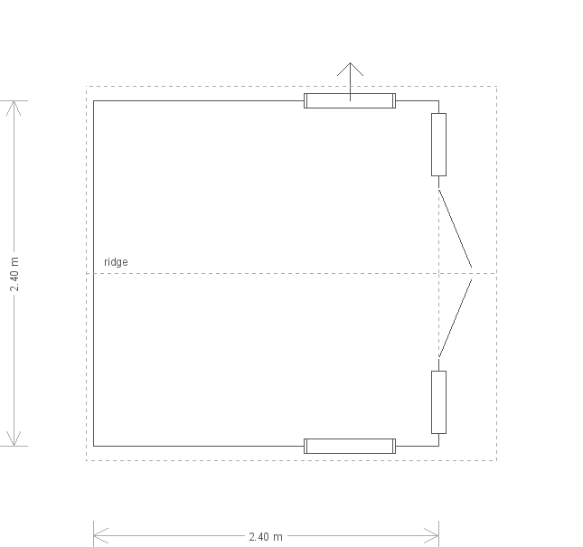 8 X 8 Blakeney Summerhouse in Verdigris (17463) floorplan