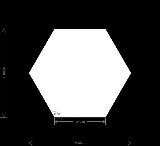 8 x 8 Hexagonal Wiveton Summerhouse (Ref: 177) (177) base plan
