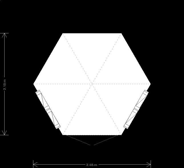 8 x 8 Hexagonal Wiveton Summerhouse (Ref: 177) (177) floorplan