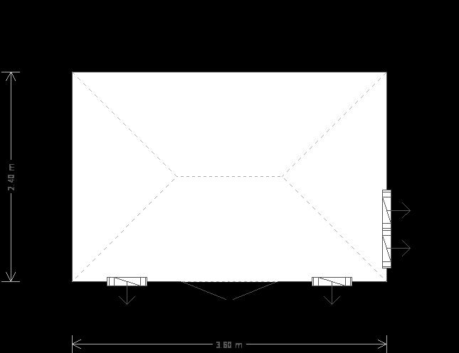8 x 12 Cley Summerhouse (Ref: 1825) (1825) floorplan