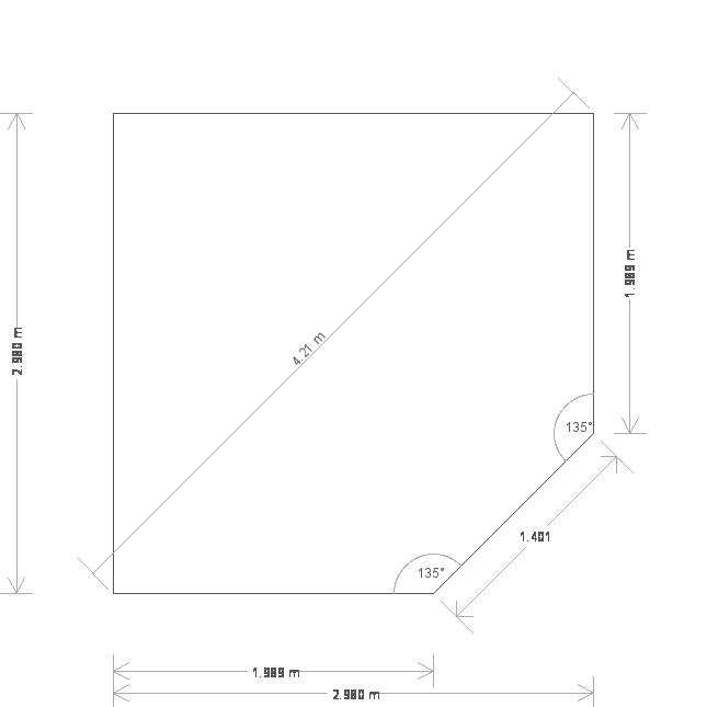 10 x 10ft Corner Summerhouse (18603) base plan
