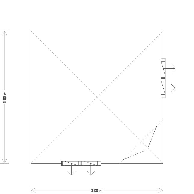 10 x 10ft Corner Summerhouse (18603) floorplan