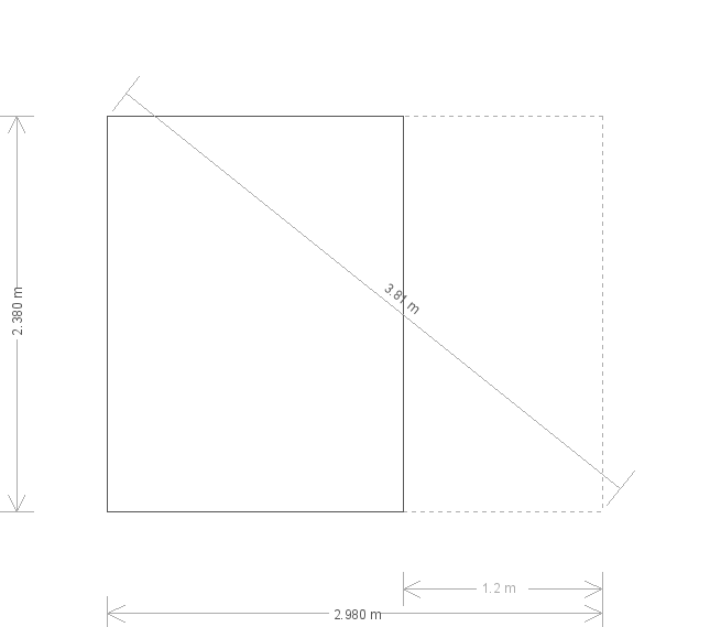 8 x 10ft Summerhouse with Veranda  (19337) base plan