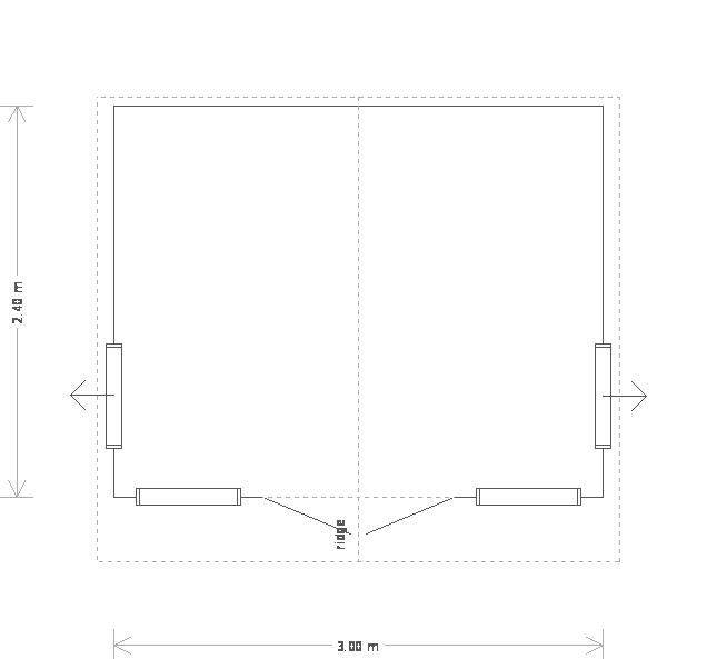 10 x 8ft Blakeney Summerhouse with Guttering (19639) floorplan