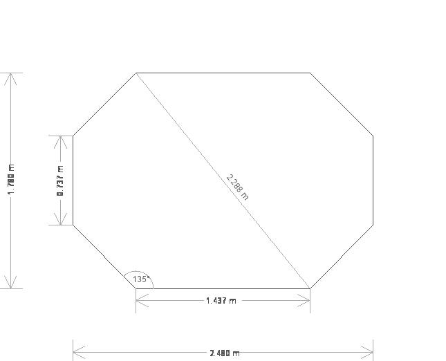 6 x 8.6ft Octagonal Summerhouse  (19641) base plan