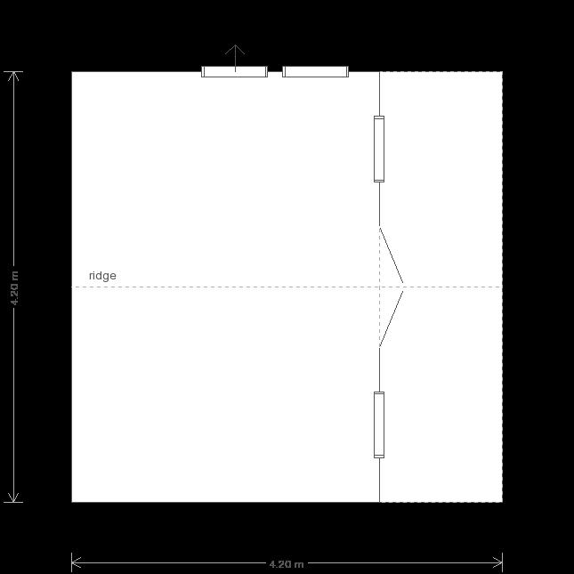 14 x 14 Morston Summerhouse with Apex Roof  (Ref: 197) (197) floorplan
