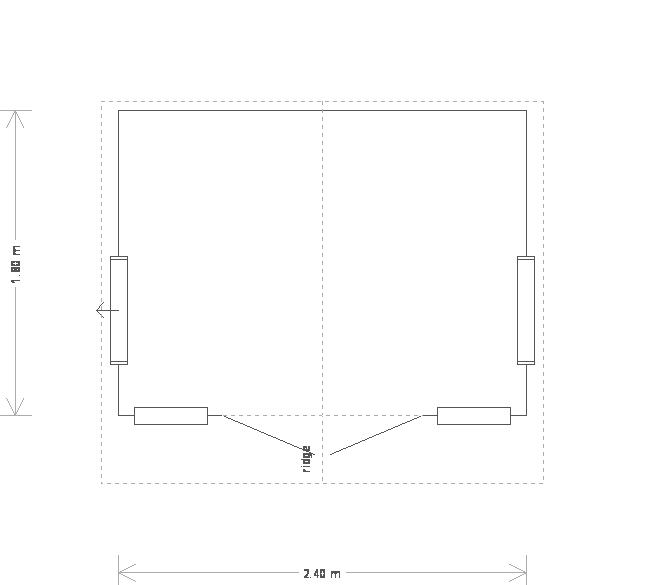 8 x 6ft Blakeney Summerhouse (19737) floorplan