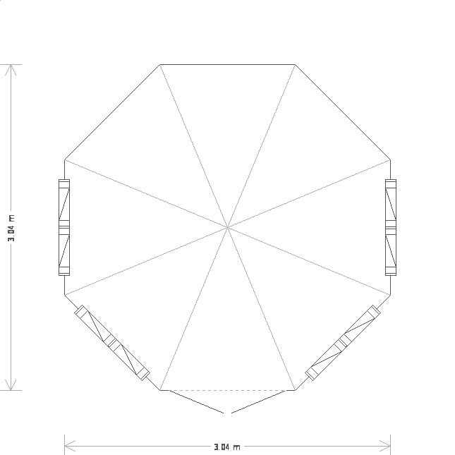 10 x 10ft Traditional Summerhouse (19827) floorplan