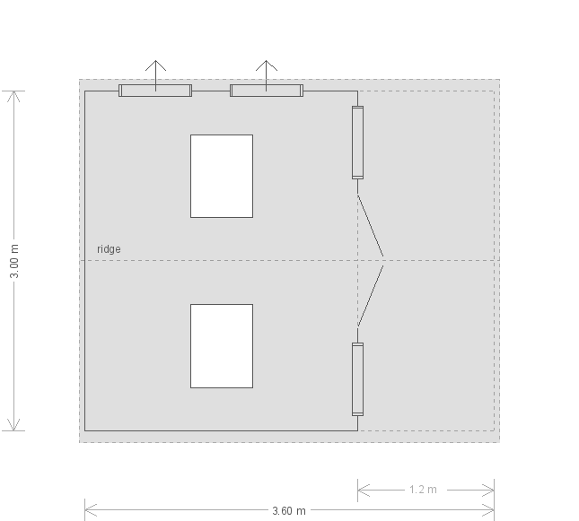 10 x 12ft Morston Summerhouse in Pebble (20005) floorplan