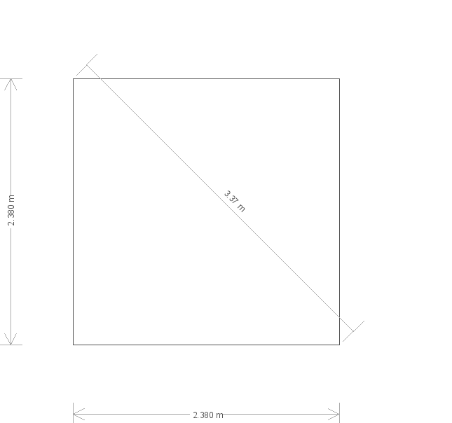 8 x 8ft Blakeney Summerhouse in Light Oak (20343) base plan