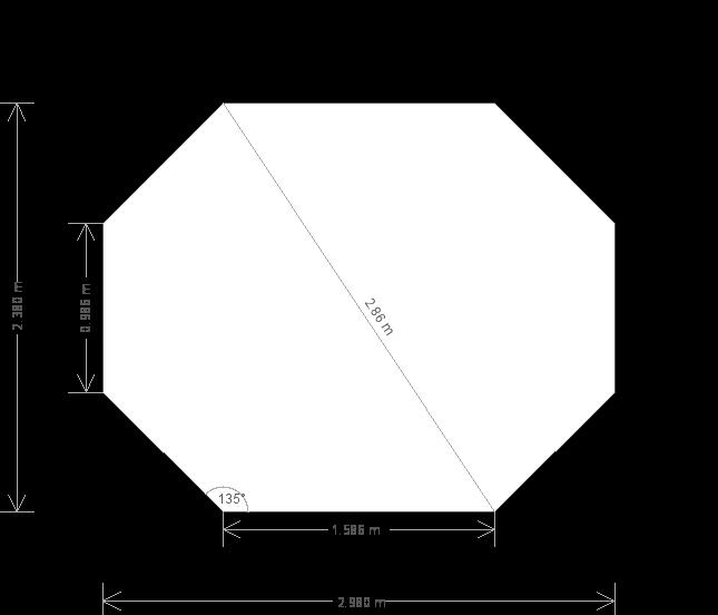 8 x 10ft Octagonal Summerhouse Painted in Exterior Lizard (21281) base plan