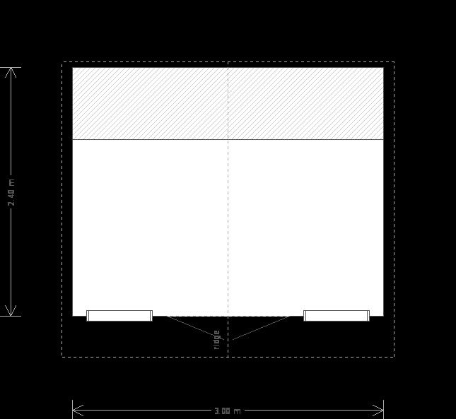 10 x 8ft Summerhouse Shed (22795) floorplan