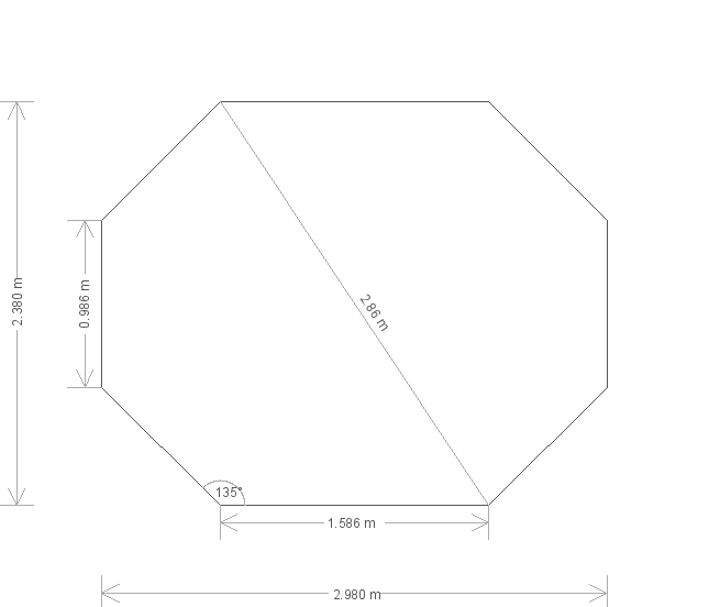8 x 10ft Painted Summerhouse (24387) base plan