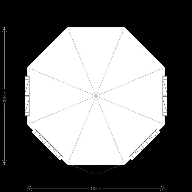 10 x 10 Wiveton Summerhouse (Ref: 484) (484) floorplan