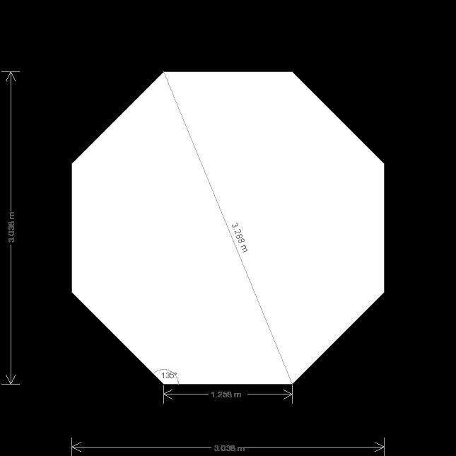10' x 10' Wiveton Octagonal Summerhouse (Ref: 532) (532) base plan
