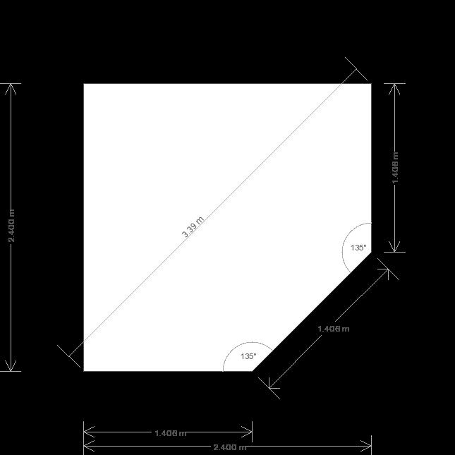 8 x 8 Weybourne Summerhouse (Ref: 544) (544) base plan