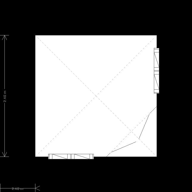 8 x 8 Weybourne Summerhouse (Ref: 544) (544) floorplan