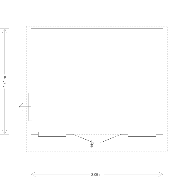 10 x 8 Blakeney Summerhouse with Georgian Windows: Front