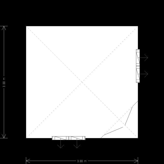 10 x 10 Weybourne Summerhouse Plan (6663) floorplan