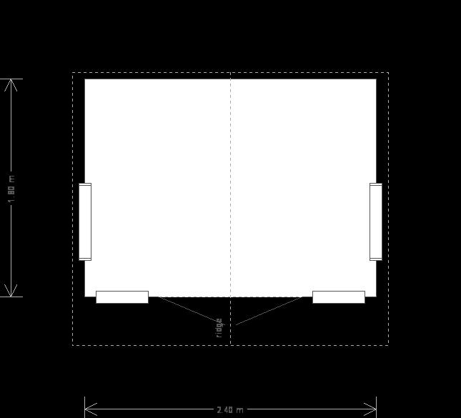 8 x 6 Blakeney Summerhouse With Lacquered Floor (8325) floorplan
