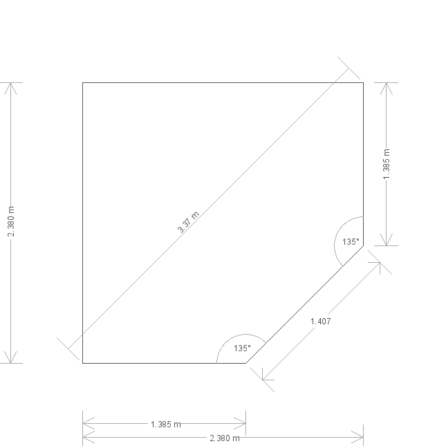 8 x 8 Weybourne Corner Summerhouse (8557) base plan
