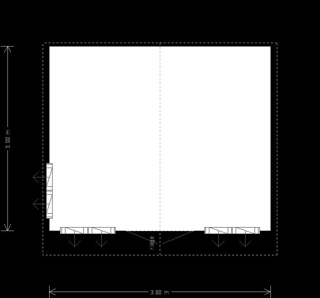 12 X 10 Blakeney Summerhouse With Overhanging Apex Roof (9689) floorplan