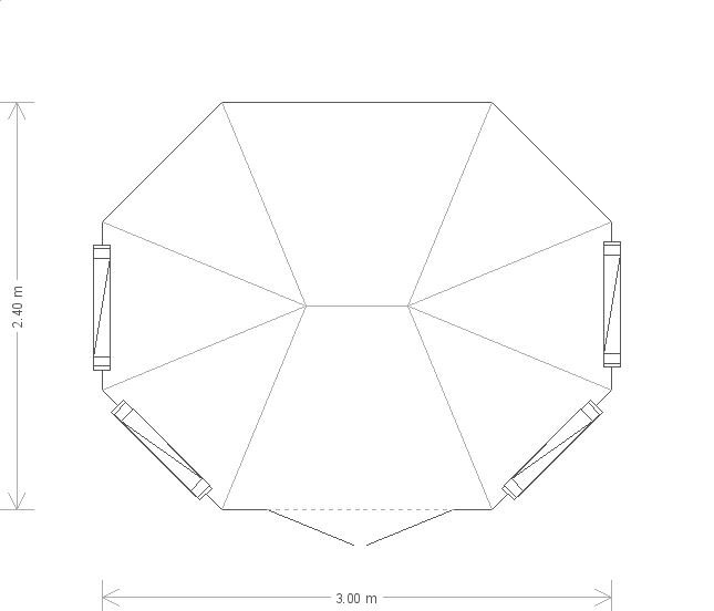 8 X 10 Wiveton Summerhouse With Octagonal Roof (9699) floorplan