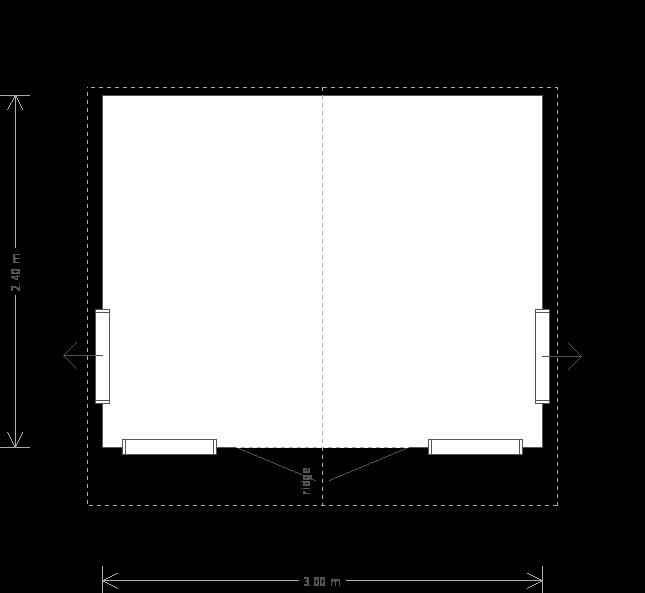 10 X 8 Blakeney Summerhouse With Apex Roof Plan (9749) floorplan