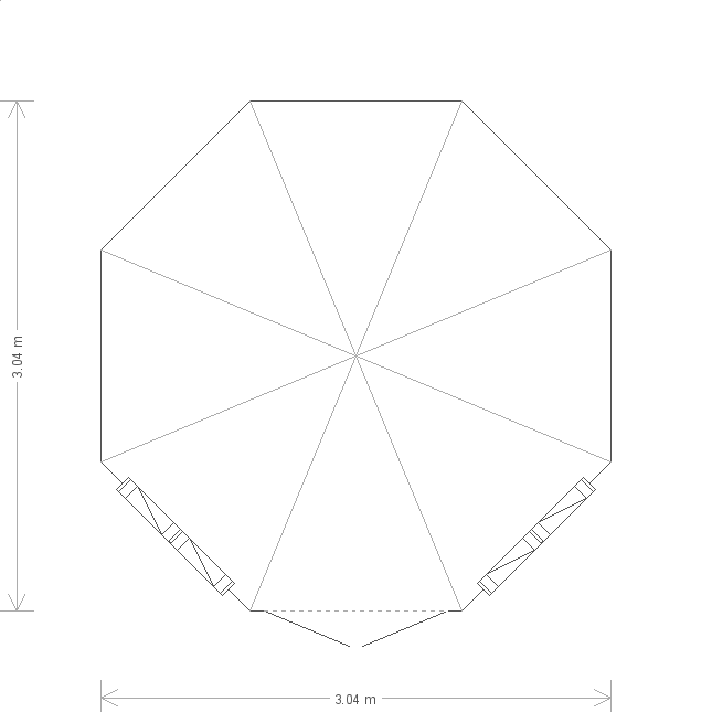 10 X 10 Wiveton Summerhouse With Octagonal Roof (9779) floorplan