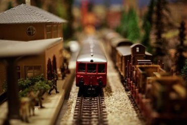 Model railway train