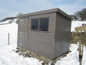 Shed in Snowy Location