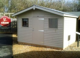 Superior Shed with attractive roof overhang